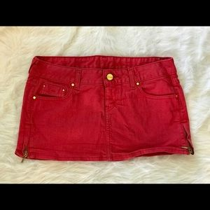 Guess? Red Mini Skirt